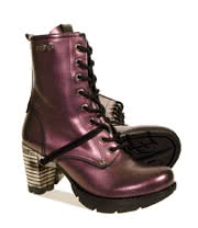 New Rock TR001 Heeled Boots (Purple)