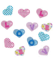 Blue Banana 3D Bubble Nail Art Hearts (Multi-Coloured)