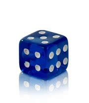 Novelty Dice 5mm Add On (UV Blue)