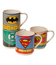 Justice League 4 Pack Mug Set (Multi-Coloured)
