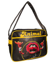 The Muppets Animal Retro Messenger Bag (Black)
