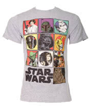 Star Wars Icons T Shirt (Grey)