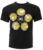 The Big Bang Theory Rock Paper Scissors T Shirt (Black)