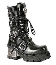 New Rock Boots Polished Mid Boots M.373-S33 (Black)