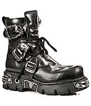 New Rock Boots Crucifix Ankle Boot M.407-S1 (Black)