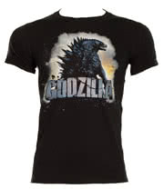 Godzilla Cracked Text T Shirt (Black)