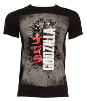 Godzilla Distressed Poster T Shirt (Black)