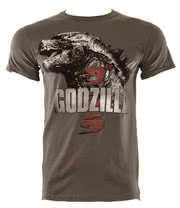 Godzilla Head T Shirt (Charcoal)