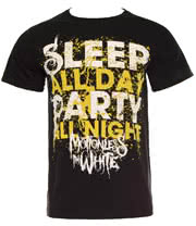 Motionless In White Sleep All Day T Shirt (Black)
