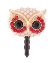 Blue Banana Owl Phone Charm (Red)
