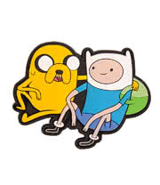 Adventure Time Jake & Finn Belt Buckle (Multi-Coloured)