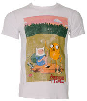 Adventure Time Jake & Finn T Shirt (White)