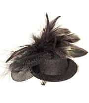 Blue Banana Mini Rose Hat Fascinator (Black)