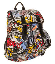 Blue Banana Comic Backpack (Multi Coloured)