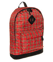Blue Banana Tartan Backpack (Red)