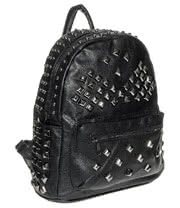 Blue Banana Studded Backpack (Black)