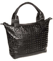Blue Banana Spikes Tote Bag (Black)