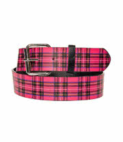 Blue Banana Tartan Belt (Pink/Black)