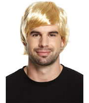 Blue Banana Boy Band Wig (Blonde)