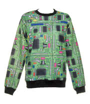 Insanity Circuit Board Sweatshirt (Green)