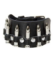 Blue Banana Bullet Wristband (Black)