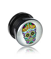 Blue Banana Glow In The Dark Skull Plug