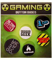 Retro Gamer Badge Set