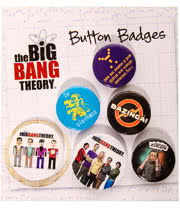 Big Bang Theory Character Badge Set