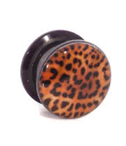 Blue Banana Leopard Print Ear Plug (Brown)