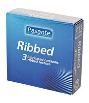 Pasante Ribbed Condoms (Pack Of 3)