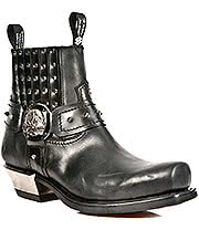 New Rock Boots Studs & Buckles Ankle Boots M.7959-S1 (Black)