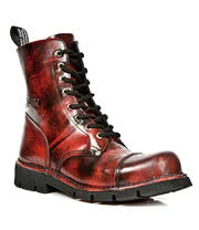 New Rock M.NEWMILI083-S3 Lace Up Boots (Antique Red)