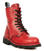 New Rock Boots Lace Up Style M.NEWMILI084-S5 (Red)