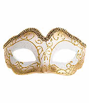 Blue Banana Glitter Masquerade Ball Mask (Gold)