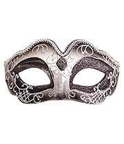 Blue Banana Glitter Masquerade Ball Mask (Black)