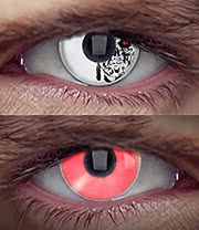 EDIT 1 Year Terminator Coloured Contact Lenses (Cyborg)
