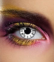 EDIT 90 Day Tick Tock Coloured Contact Lenses (White/Black)