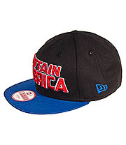 New Era Captain America 9FIFTY Snapback Hat (Black/Blue)