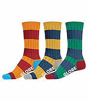 Globe Fat Stripe Boot Socks (Pack of 3)