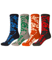 Globe Hawaiian Socks (Pack of 4)