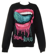 Falling In Reverse Lips Sweatshirt (Black)