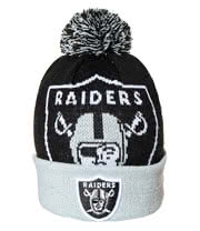 New Era Oakland Raiders Beanie (Black)