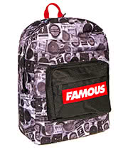 Famous Stars & Straps Boombones Backpack (Black/Red)