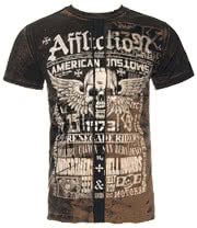 Affliction Malibu Canyon T Shirt (Brown)