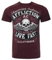 Affliction Inquisition T Shirt (Red)