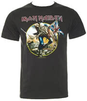 Amplified Iron Maiden Trooper T Shirt (Charcoal)