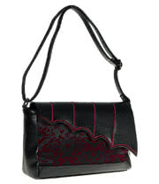Banned Steampunk Handbag (Black/Burgundy)