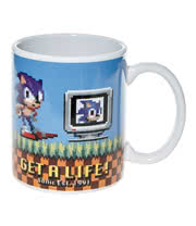 Sonic The Hedgehog Sonic Get A Life Mug (White)