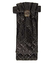 Golden Steampunk Duke Diamond Button Cravat (Black)