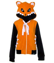 Cupcake Cult Foxy Hoodie (Orange/Black)